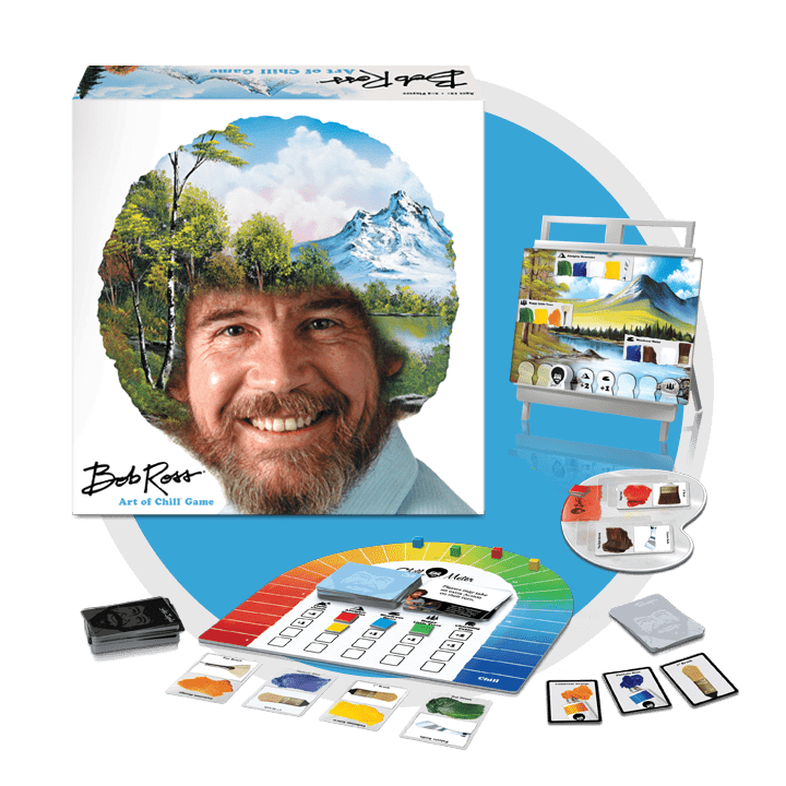 Bob Ross Art of Chill Board Game Contents