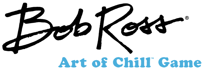Bob Ross Art of Chill Board Game Logo