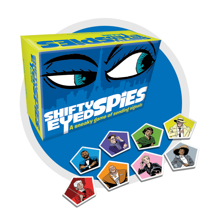 Shifty Eyed Spies Board Game Contents