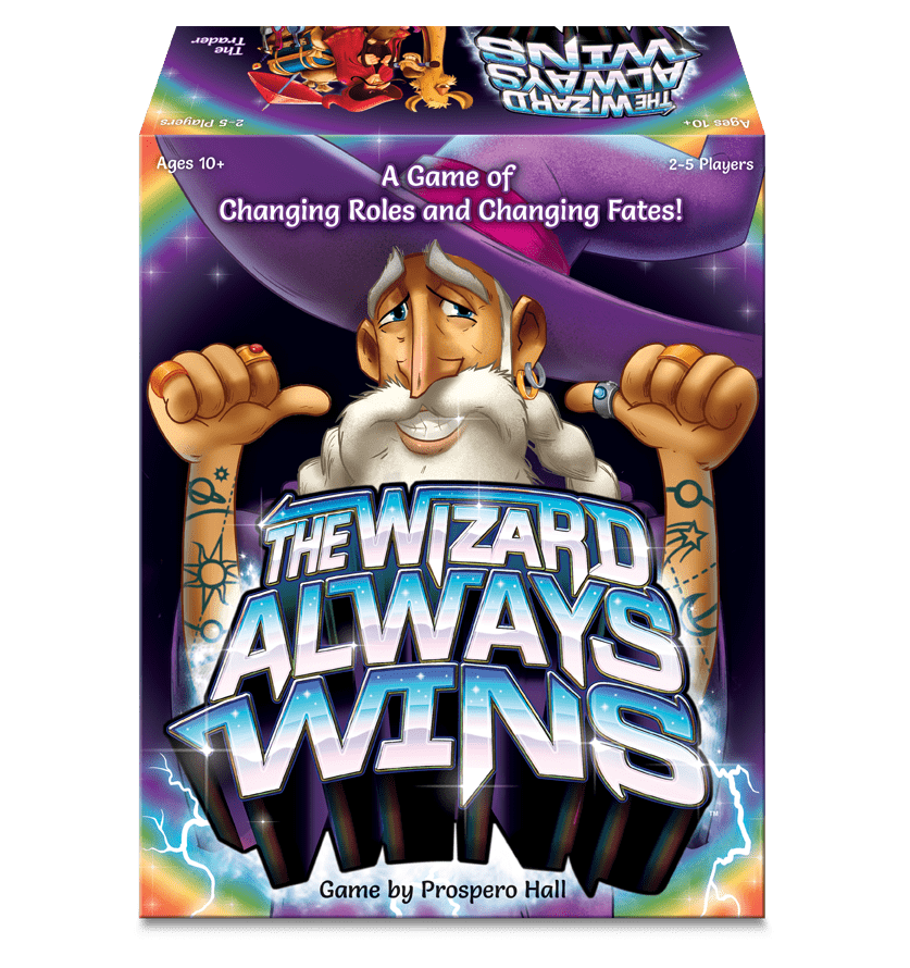 The Wizard Always Wins Board Game Box