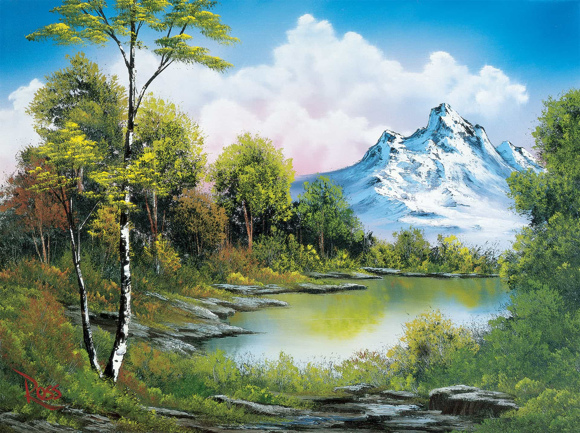 Bob Ross Art of Chill Board Game Background