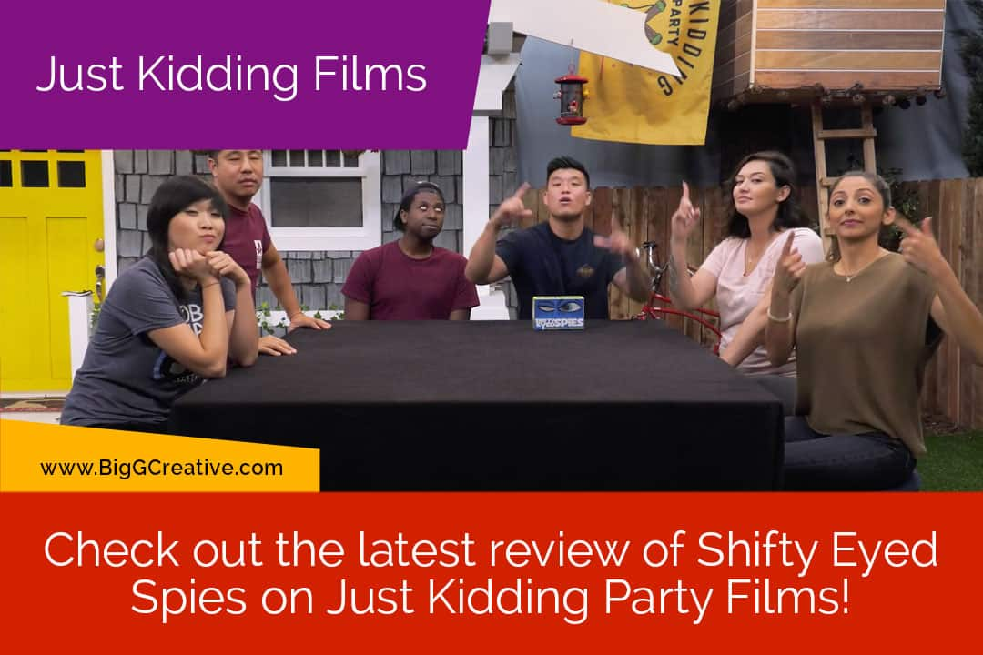 Check out the lastest review of Shifty Eyed Spies on Just Kidding Party Films!
