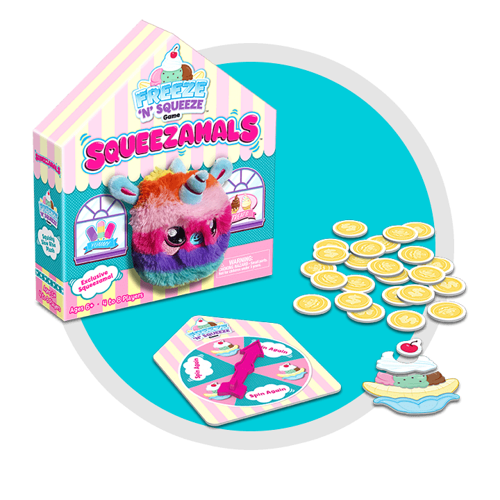 Squeezamals Freeze 'N' Squeeze Game Contents